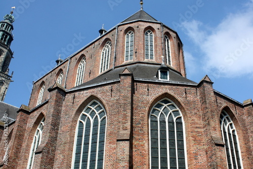 Martini tower with church in Groningen in the Netherlands