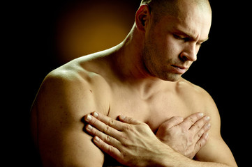 Emotional portrait of a prayer