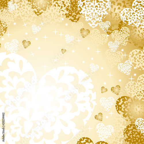heart background gold