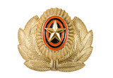 Insignia on russian officer cap