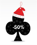 special price tag with santa hat poster