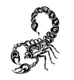 Zodiac signs - Scorpio. Tattoo design. poster