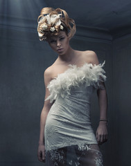 Fine art photo of a stylish blond beauty