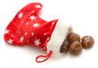 calza natalizia con marrons glaces