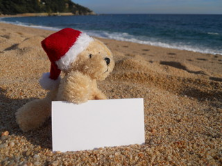 christmas beach advertisement