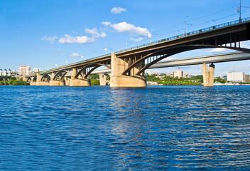 Bridge over the River Ob in Novosibirsk