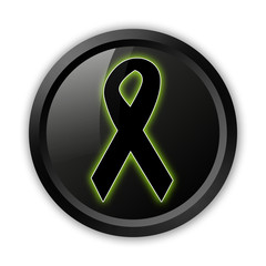 "Black Icon (Green Outlines) ""Awareness Ribbon"""