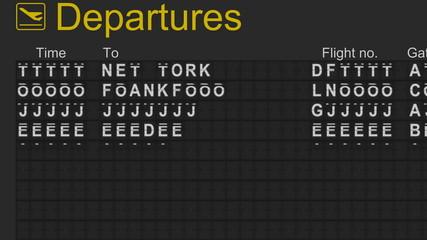 Split-flap mechanical nternational departures board