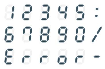 デジタルの数字と文字