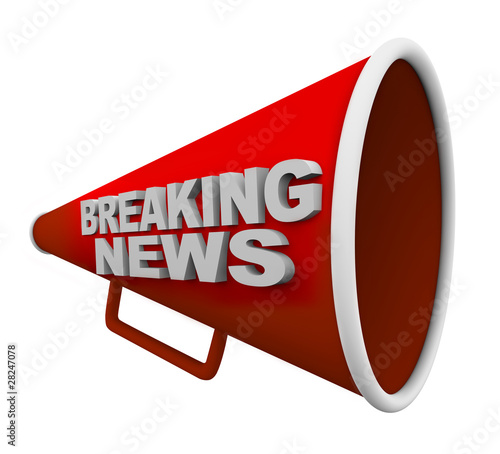 Breaking News - Words on Bullhorn