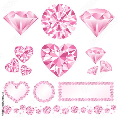 ピンク ダイアモンド 装飾