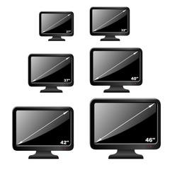 3d Iconset LCD Fernseher Größen