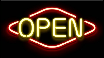 Open Neon Sign Animated