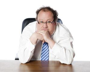 solitude d'homme patron préoccupé pensif