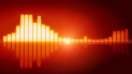Graphic equalizer in orange