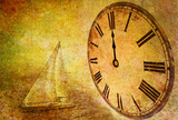 time passing, abstract vintage motive poster