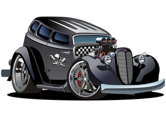 Vector cartoon hotrod
