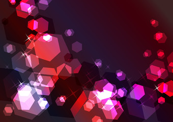 Bright sparkling festive background with red and violet glow