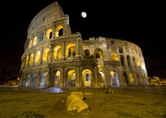 Nacht von Sicht von Colosseum, Rom - Italien