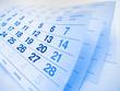 Blue toned calendar page