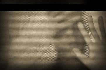 flickering television screen