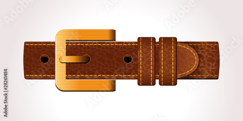 Leather belt icon
