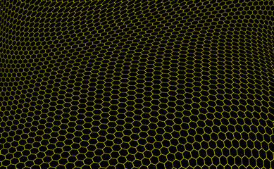 hexagons graphene structure