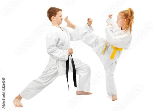 Leinwanddruck Bild Martial arts sparring