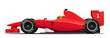 Formula race red detailed car