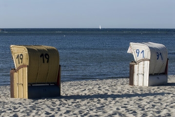 Strandkorb am Strand in Laboe