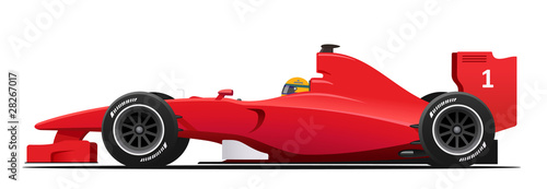 Formula race red detailed car - 28267017