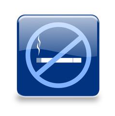 Button Rauchverbot blau