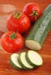 zucchina e pomodori uno