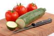 zucchina e pomodori quattro