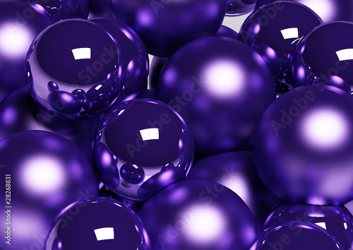 Christmas Decoration / Violet Christmas Balls