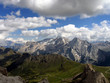 Italy beauty, Dolomites, Marmolada view from Sella