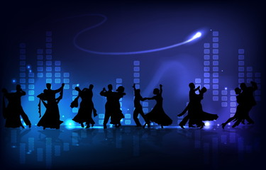 Dancing Silhouettes Background