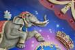 Cirque fête foraine zoo spectacle éléphant camion parade