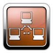 "Bronze Glossy Square Icon ""Network"""