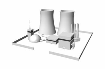 3D Kernkraftwerk freigestellt 02