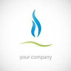 Logo natural gas ( vector )