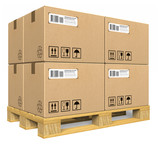 Cardboard boxes on pallet - 28273051