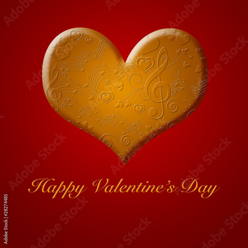 Happy Valentines Day Music Songs from the Gold Heart