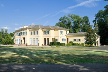 New Large Single Family House Lawn Suburban Philadelphia, PA