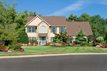 Nicely Landscaped One Family Home Suburban Philadelphia PA USA