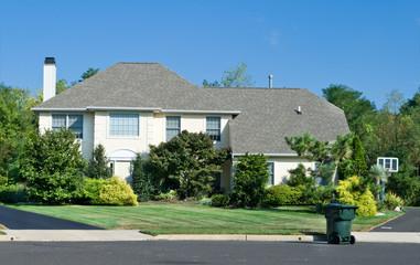 Nicely Landscaped Single Family Home Suburban Philadelphia USA