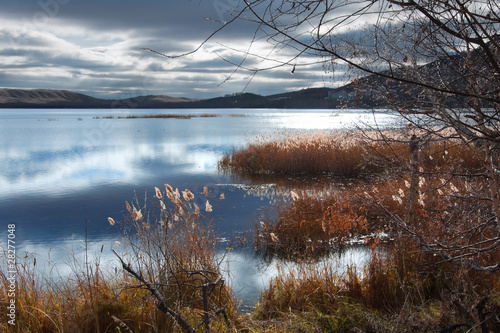 autumn landscape on lake