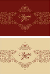 filigree invitation card design