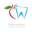 Logo dentist. Bite the apple ( vector )