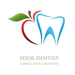 Logo dentist. Bite the apple ( vector )